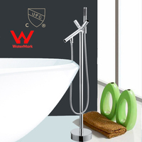 WELS AND CUPC Approval Floor Mounted Brass Bathroom Hot And Cold Water Torneira Shower Bath Mixer