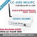 CC-A80 Mini PC Cubieboard4 внутри Совет По Развитию/Cubieboard A80 Cortex A15x4 до 2.0 ГГц, A7x4/2 ГБ DDR 8 Г EMMC
