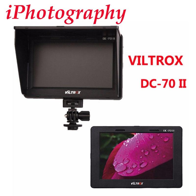 Viltrox 7 DC-70 II Clip-on Color TFT HD LCD Monitor Display HDMI AV Input 1024 x 600 for Sony Canon Nikon DSLR Camera