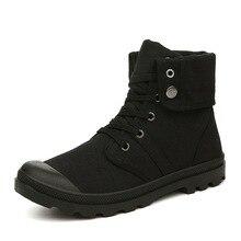 Karstā pārdošana Vīriešu kvalitāte Ikdienas apavi Vīrieši Augstas kvalitātes audekla kurpes Britu cietā modes vīrieši Instrumentu zābaki Jaunas kurpes caurule pagrieza apavus