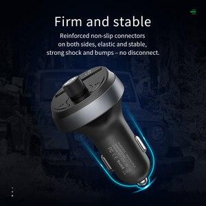 Image 4 - HOCO المزدوج USB شاحن سيارة LED عرض معالج إرسال موجات fm سماعة بلوتوث للسيارة عدة الصوت MP3 مشغل موسيقى آيفون 11