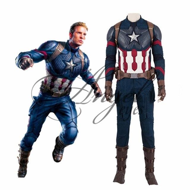 Marvel Super Hero Avengers: Endgame Steven Rogers Capitão América Cosplay Traje Do Partido Cosplay Shoes Custom Made