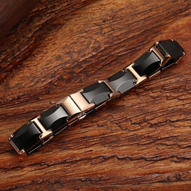 WelMag Magnetic Bracelets Health Energy Fashion black Ceramic bracelets bangles Unisex Wristband 4