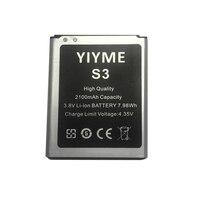 Darmowa Wysyłka Free Prezent Wysokiej Jakości Marki YIYME Wymiana Baterii Telefonu 2100 mAh do Samsung S3 I9300 I9305 I9308
