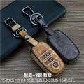 Leather Car Keychain Key Fob Case Cover for Kia K2 K3 K4 K5 KX3 Sorento Sportage/SportageR Key Rings Holder bag Auto Accessories