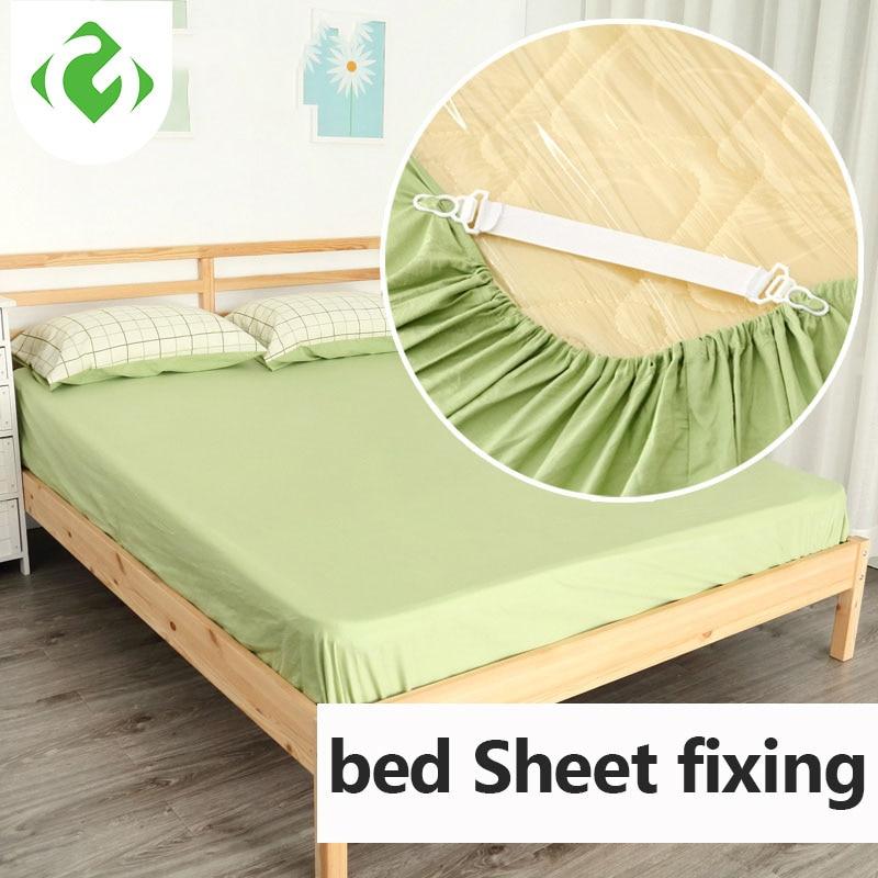 GUANYAO  White Bed Sheet Mattress Cover Blankets Grippers Clip Holder Fasteners Elastic Set Fixing Slip-Resistant Belt  Elastic