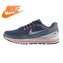 3610b0ef92733 Original NIKE AIR ZOOM VOMERO 13 Men s Running Shoes Dark Blue Shock  Absorption Breathable Wear-