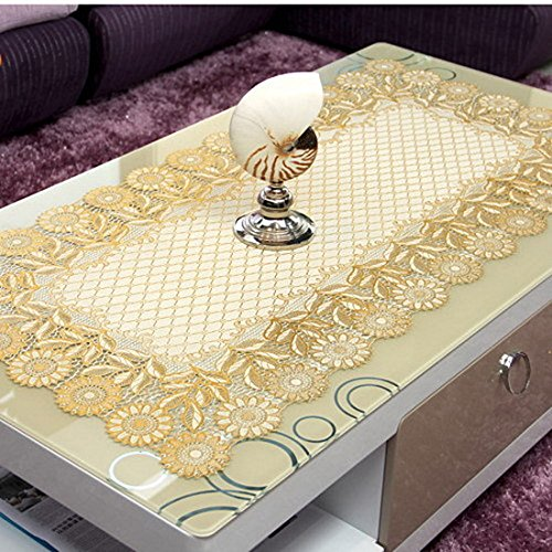 Luxury PVC Tablecloth Sunflower Floral Table Cover Gold Sequin Tablecloth  Waterproof Table Overlays For Counter/Tea Table Oblong In Tablecloths From  Home ...