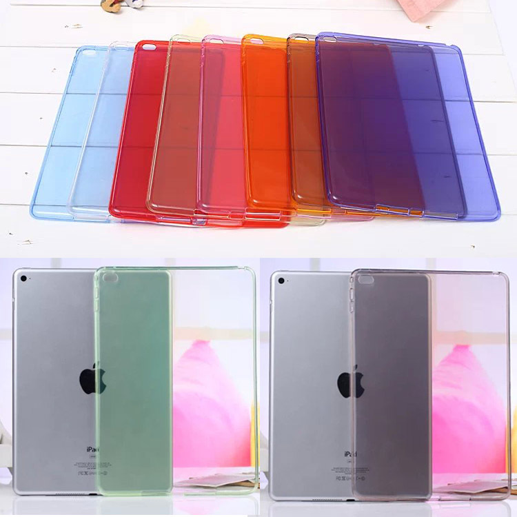 Full clear Transparent TPU Back Case Cover Silicone For Apple iPad Air 2 9.7'' Protective Skin for ipad 6 Tablet Accessories new tpu pvc protective back case cover for ipad mini grey