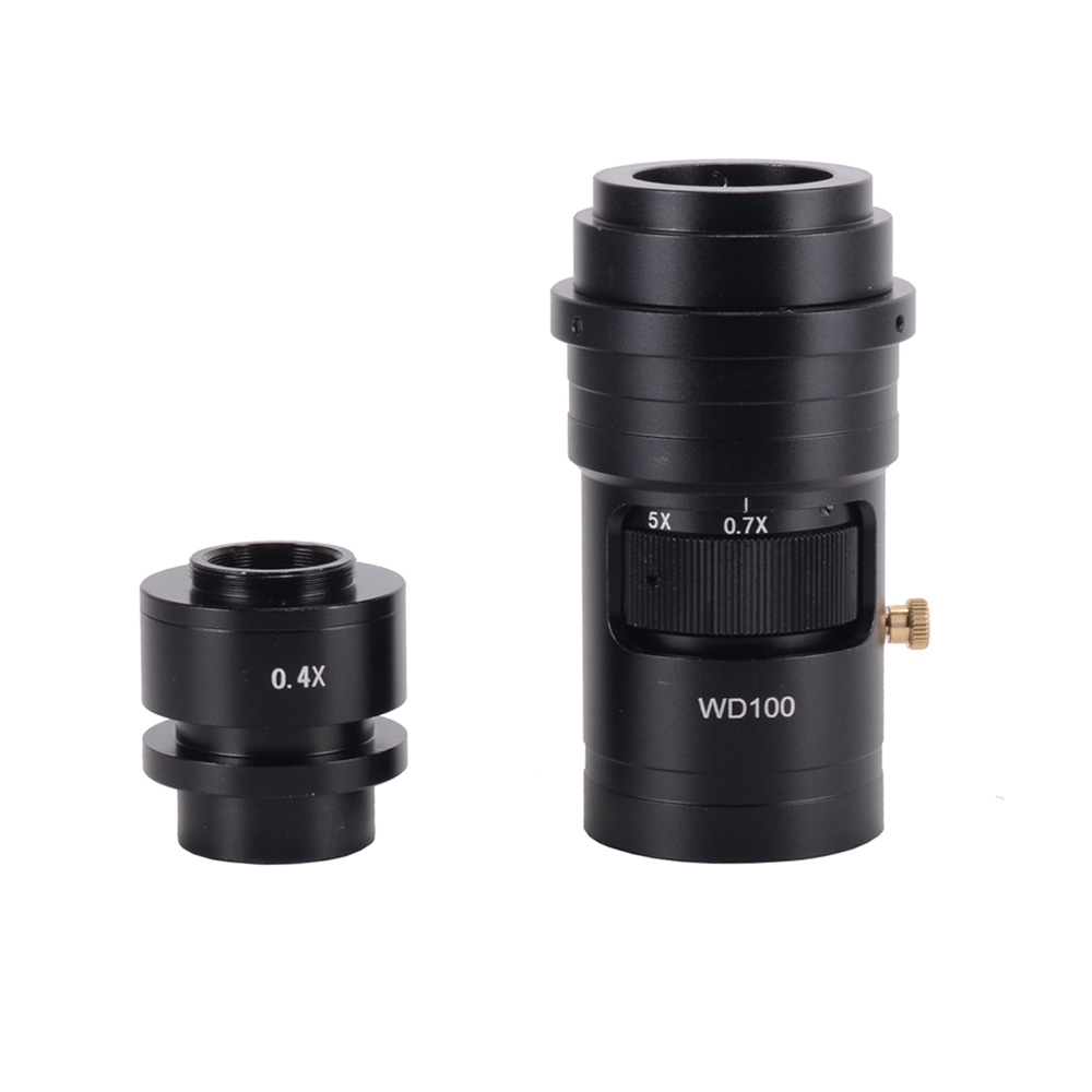 HD 200X industrial camera lens electronic digital CCD single tube 0.7X-5X optical lens microscope single tube tool accessoriesHD 200X industrial camera lens electronic digital CCD single tube 0.7X-5X optical lens microscope single tube tool accessories