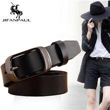 JIFAPAUL Дамский бренд кожаный чисто ремень пряжка Повседневный простой дикий модный Джинсовый корсет женский