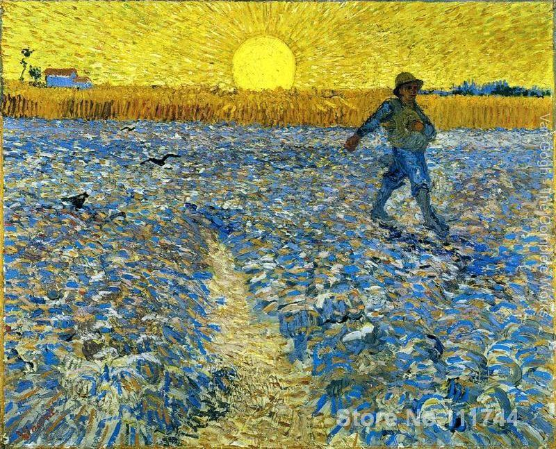 сеятель картина ван гога - art for living room wall The Sower by Vincent Van Gogh paintings High Quality Hand painted