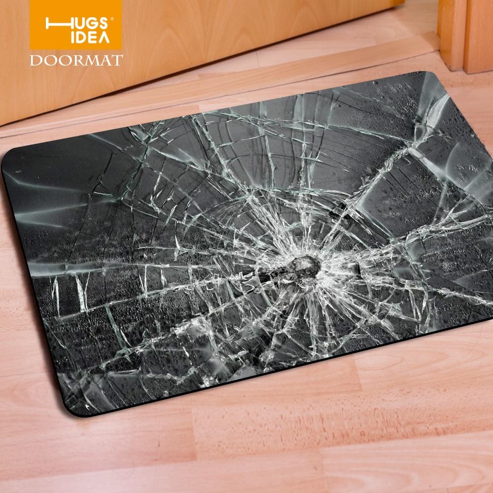US $11.99 40% OFF Hugsidea eingang teppiche 3d gebrochen glas druck  teppiche für parlor rutschfeste hohe qualität teppiche küche zimmer boden  pads-in ...
