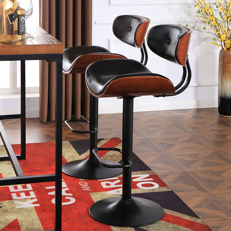 Chair shop Study stool Art classroom bar Household furniture white black brown color fashion bar chair france club stool brown rose silver color lifting chair