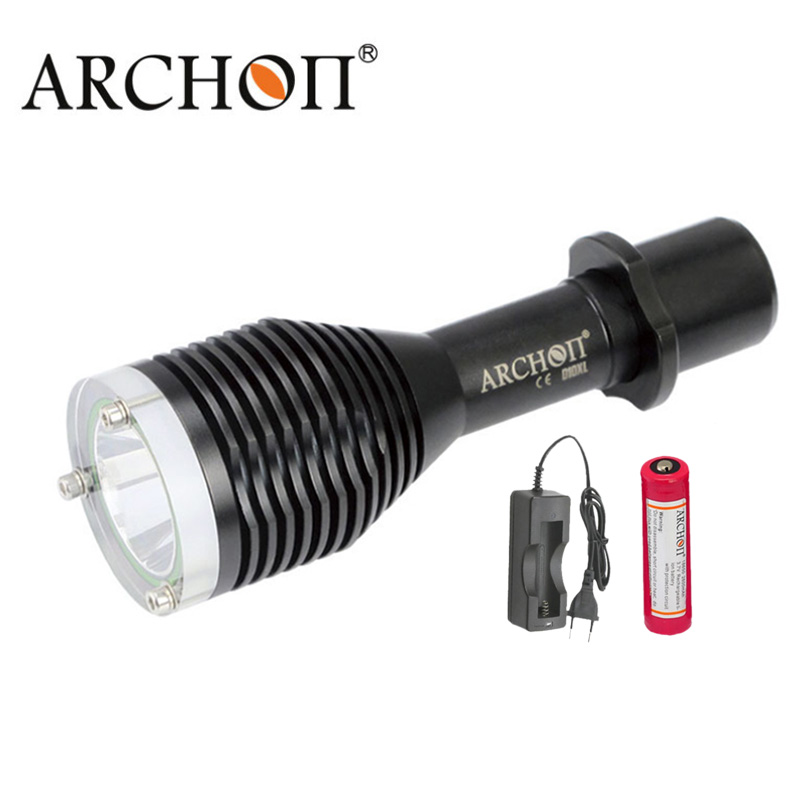 Underwater Diving Light Led Flashlight ARCHON D10XL W16XL CREE XM-L2 U2 3-Mode 100M Waterproof Torches 18650 Battery archon d10u 3 mode white diving zooming flashlight underwater torch waterproof led light with cree xm l u2 black 1 x 18650