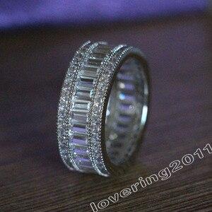 Image 2 - Choucong מלא נסיכה לחתוך אבן 5A זירקון אבן 10KT לבן גולדפילד אירוסין טבעת נישואים טבעת סט Sz 5  11 מתנה