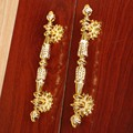 128mm luxury Kitchen Cabinet Wardrobe door  Pulls White,Gold  wooden door Dresser cupboard Furniture decoration Handles 5""