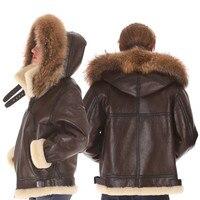 B3 shearling hat пальто на замке из меха ягненка Военная Униформа пилот мира II Летающий авиации air кожаная куртка охраны окружающей среды кожа чело