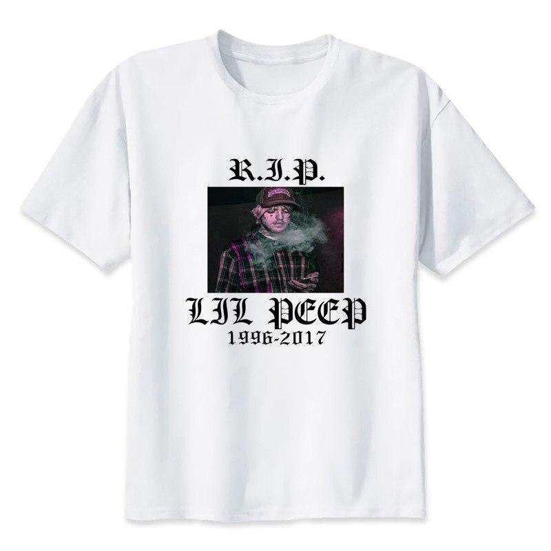 4a7c2ac0afe 2017 T shirt Men lil peep shirt hip hop Rap t shirt rapper music t ...
