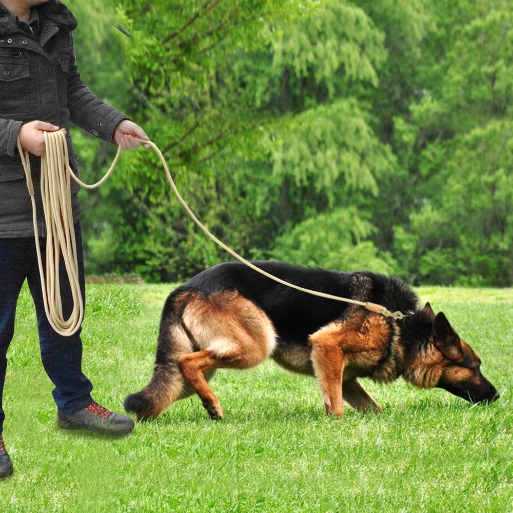 Durable Dog Tracking Leash Nylon Long Leads Rope Pet Training Walking Leashes 3m 5m 10m 20m For Medium Large Dogs Non-slip 18