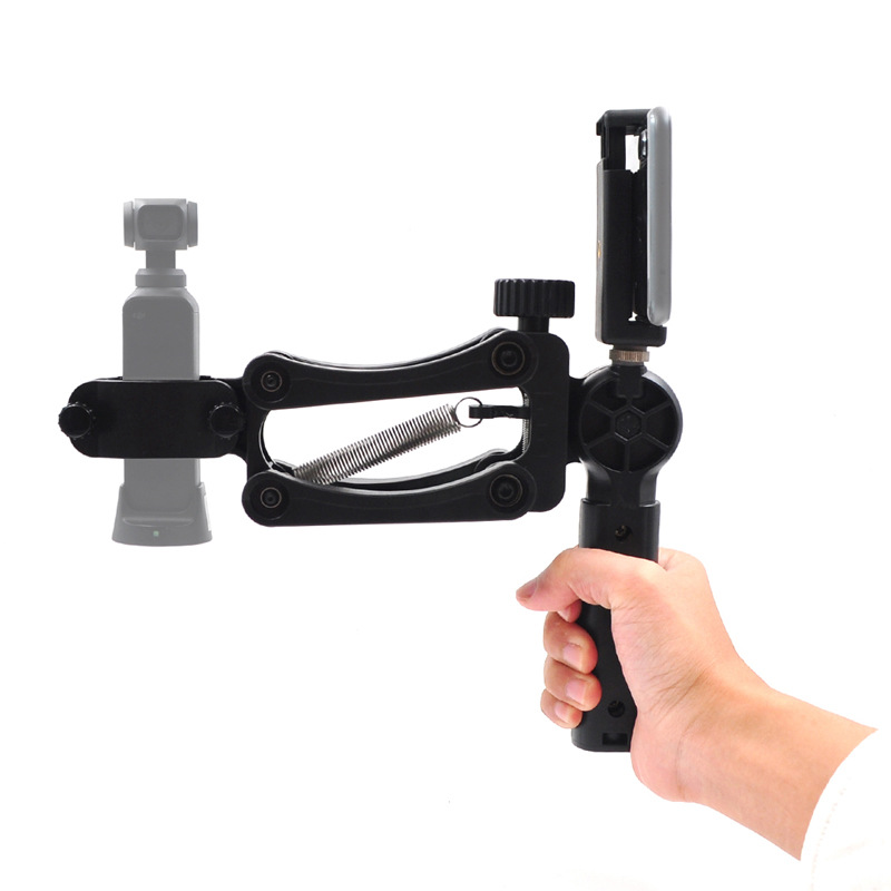 Stabilisateur 4 axes patchwork pour caméra à cardan de poche DJI OSMO avec clip pour téléphone