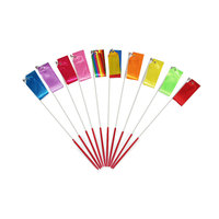 Dans Ritmische Gymnastiek Lint-Rainbow Dansen Oefening Sticks Wands Apparatuur Set voor kinderen en adult-2/4 meters-10 packs