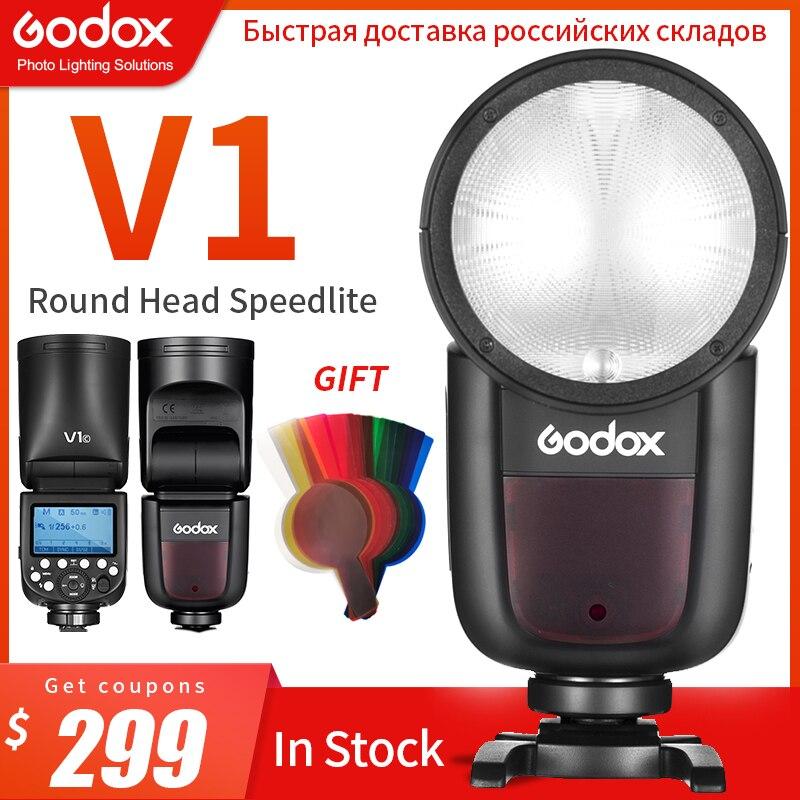 In Stock Godox V1 Speedlight V1C V1N V1S TTL HSS 1 8000s Li ion Battery Speedlite
