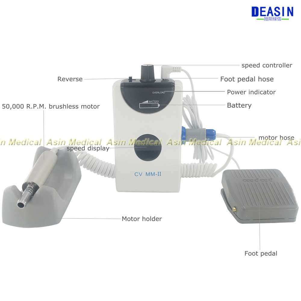 50000rpm Dental portable mini Micro motor Brushless Electric micromotor with straight handpiece and contra angle deasin new arrival inner and outer waterway dental electric motor straight contra angle handpiece