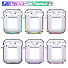 For Airpods Case Transparent Silicone Luxury Double Color Earphone Protective Cover Air Pods
