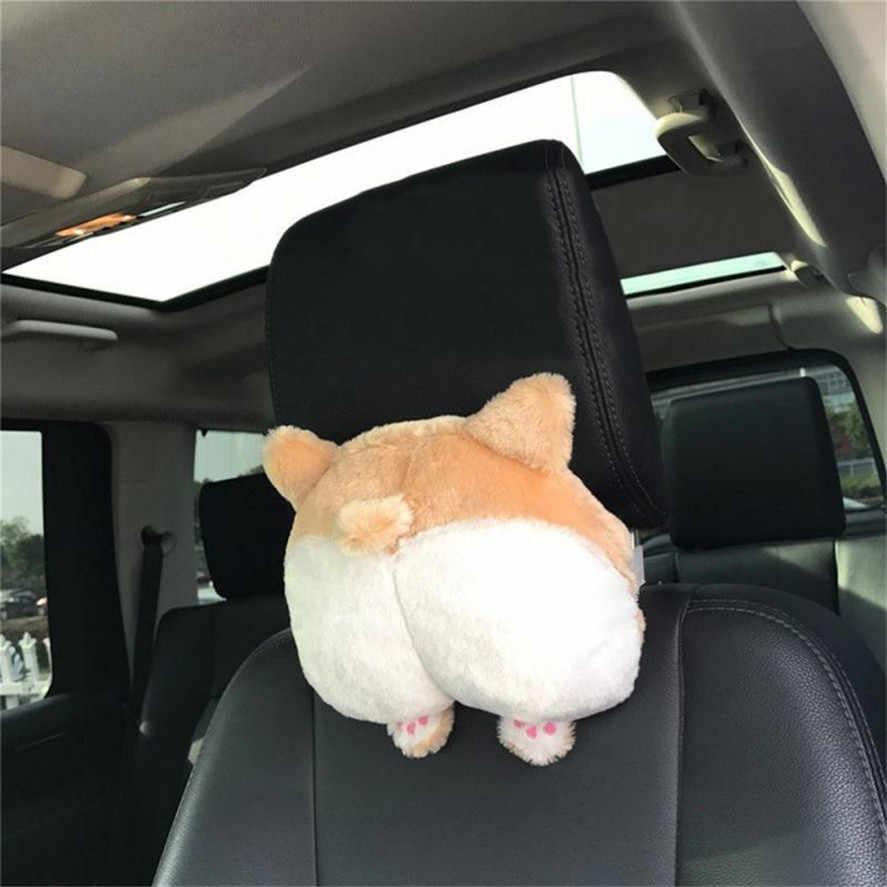 Новый CARPRIE 1 шт. Новинка корги Нижняя Автомобильная подушка для шеи на сиденье Собака Ягодицы Подушка под голову плюшевая игрушка-машинка подушка для сиденья