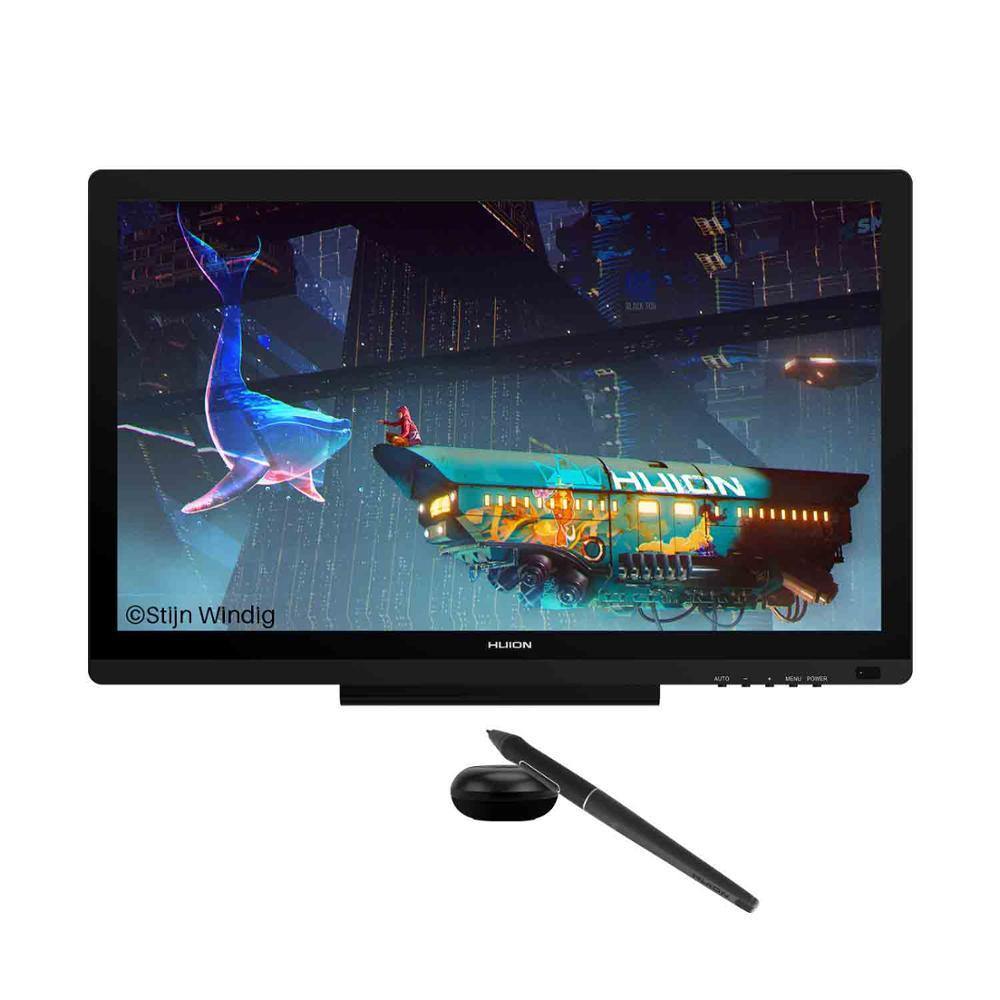 Huion kamvas 20 caneta digital tablet monitor gráficos desenho monitor caneta display com bateria-livre caneta tilt função para win mac