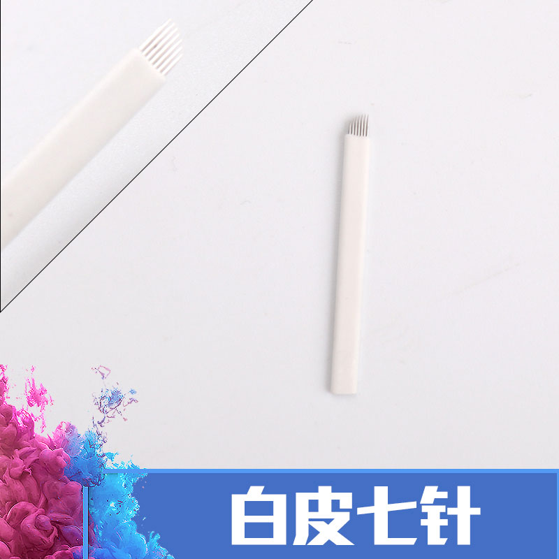 100pcs/lots High Quality White 7/9/11/12/14 Needles Permanent Makeup Blades Manual Eyebrow Tattoo Needles Blade