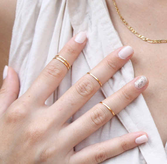 Fashion style  Women/Girl lovers' Lightning finger ring jewelry Christmas gift Brief Thin Joint ring 14mm,16mm silver gold color