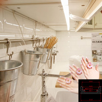 2pcs/lot Human Body Motion Infrared PIR Sensor Switch DC12V Sensitive 7020 Led rigid Strip bar light warm white for kitchen