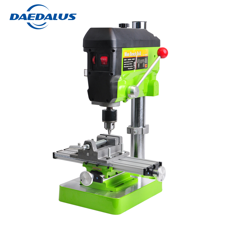 6300 Manual Work Table Multifunctional Drill Table 680W Drill Press Mini 2.5 Inch Bench Vise Drill Stand Power Tools For Milling universal aluminum alloy table flat bench vise drill press vise small vise for woodworking diy tool milling machine