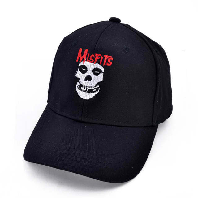 f2fcb24ce115a The misfits band cap fashion Hardcore punk band Baseball caps Glenn Danzig  rock Men and women