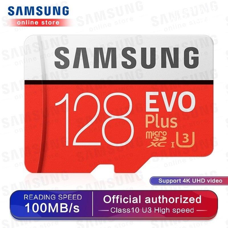 Cartão De Memória SAMSUNG Micro SD 256GB 32GB EVOplus 64GB 128GB 512G SDHC SDXC Classe Classe 10 C10 UHS Microsd TF Cartões SD Trans Flash