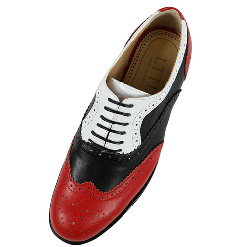Us 75 75 35 Off Red Bottom Oxford For Men Size 40 46 Classic Fashion Low Top Round Toe Lace Up Men Dress Shoes Red Leather Wedding Shoes In Men S