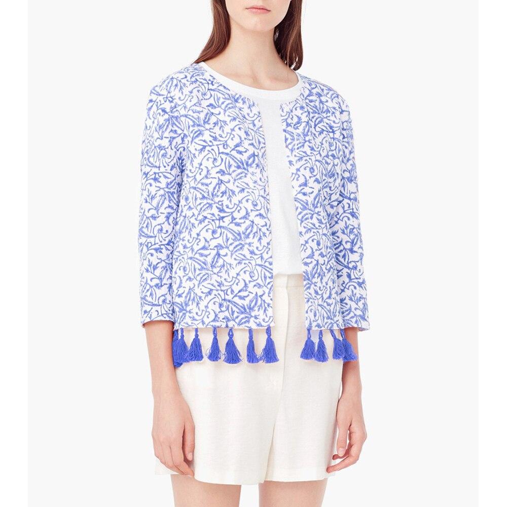 Spring Summer   Basic     Jacket   Coat Women Thin Short Ethnic   Jackets   Coats With Fringe Casual Outerwear Bolero Veste