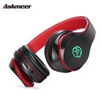 Askmeer Glowing Bluetooth Headset Wireless Stereo Headphones Handsfree Bluetooth Earphones With Microphone TF For Mobile Phone