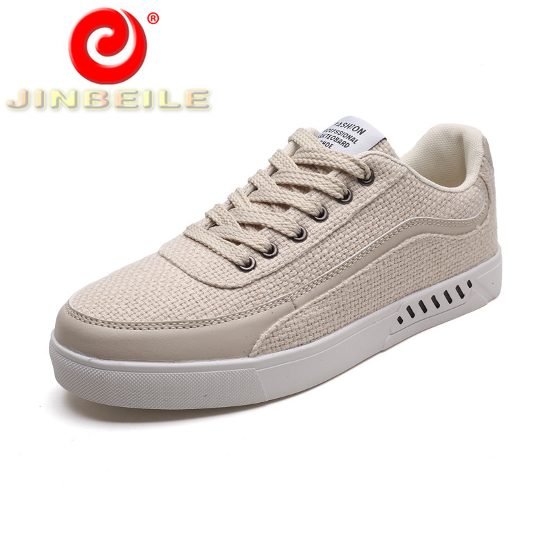 JINBEILE Solid Color Lace-up Walking Sneakers Men Durable   Non-slip Men  Skateboarding 49dad1d98135