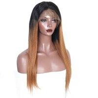 1B/30 Coloré Perruques 250% Densité Avant de Lacet Perruques de Cheveux Humains avec Bébé Cheveux Pré Pincées Brésilien Dentelle Droite Perruque Vous peut