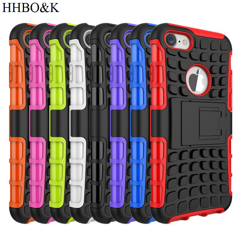 Heavy Armor Shockproof Phone Case For iPhone 7 4.7″inch 2in1 Durable Skin Stand Holder Hybrid Cover for iPhone7 Back Cover Case