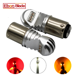 Image 1 - 2 stuks 30W 12 V 24 V Canbus 1157 BAY15D XBD Chips Wit Amber Rode Auto Gloeilamp p21/5 W LED LAMPEN CANBUS OBC Geen Fout Signaal