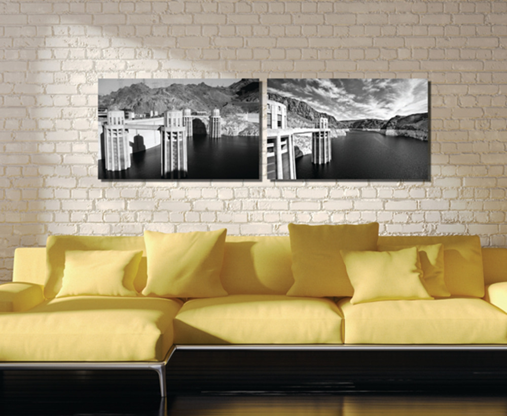 2 pieces Unframed free shipping Canvas Prints Hoover dam windmill ...