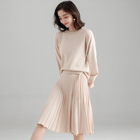 New High Quality Women Spring Autumn Cardigan 2018 New Female Elegant Knitted Outerwear Sweater Top Two Piece Set SDJ B0016