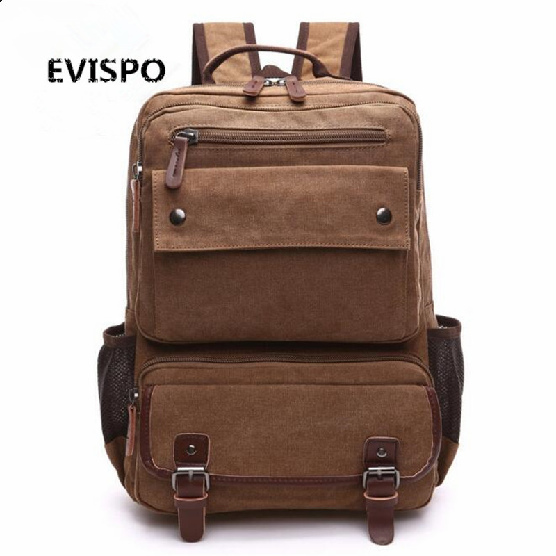 Man s Canvas Backpack Travel Bag Mountaineering Backpack Men Large Capacity Rucksack Bucket Shoulder School Bag