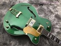 China OEM firehawk Falcon Semi Hollow Jazz Electric Guitar Bigsby Tremolo Golden Hardware