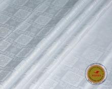 Фотография High Quality Bazin Riche Fabric White Color Guinea Brocade Soft 100%Cotton 10yards/bag with Perfume