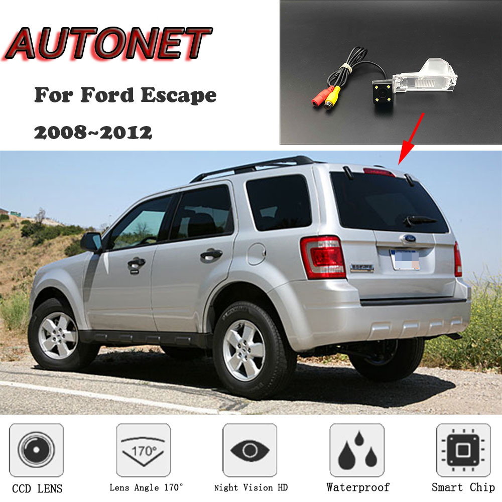 AUTONET HD Night Vision Backup Rear View Camera For Ford Escape 2008~2012 CCD/license Plate Camera Or Bracket
